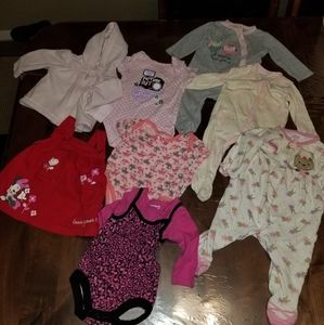 3-6 months girls, 8 items total